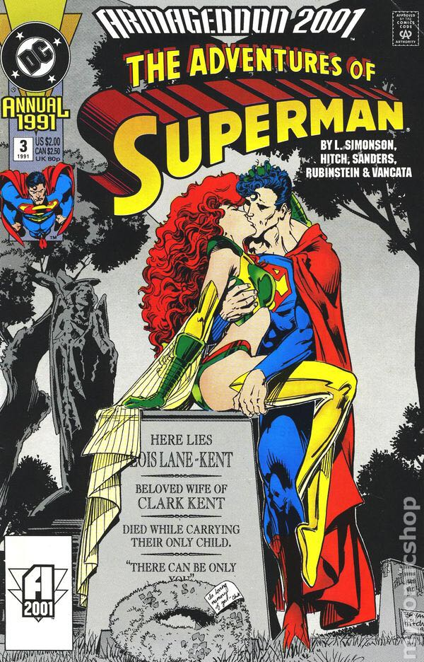 Armageddon 2001: The Adventures Of Superman Comic Book (3) front image (front cover)