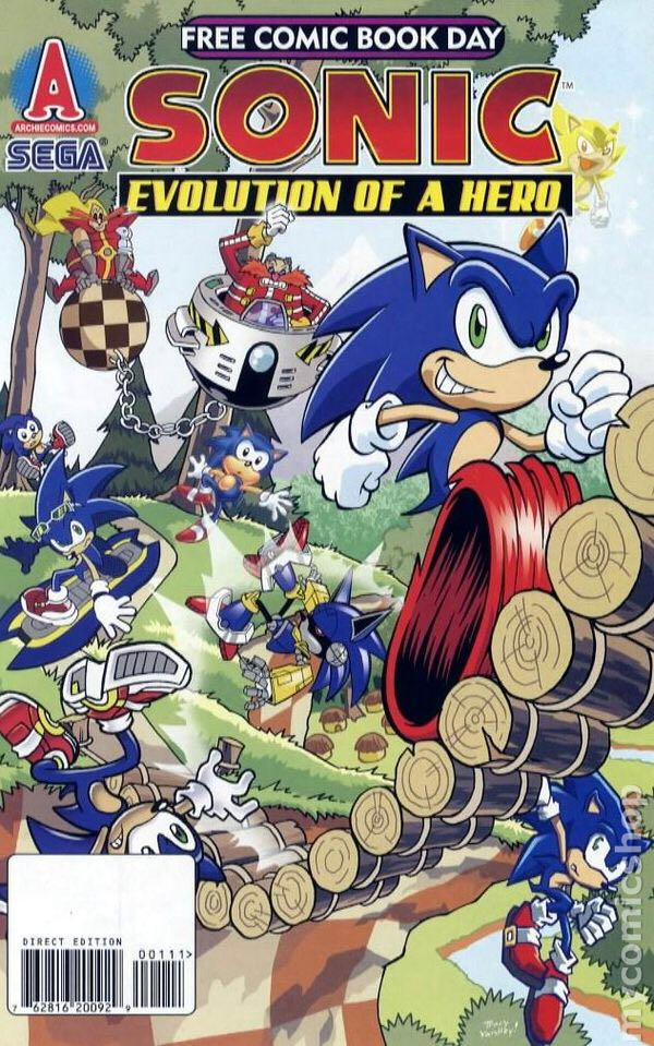 Sonic Evolution Of A Hero Comic Book (0) front image (front cover)