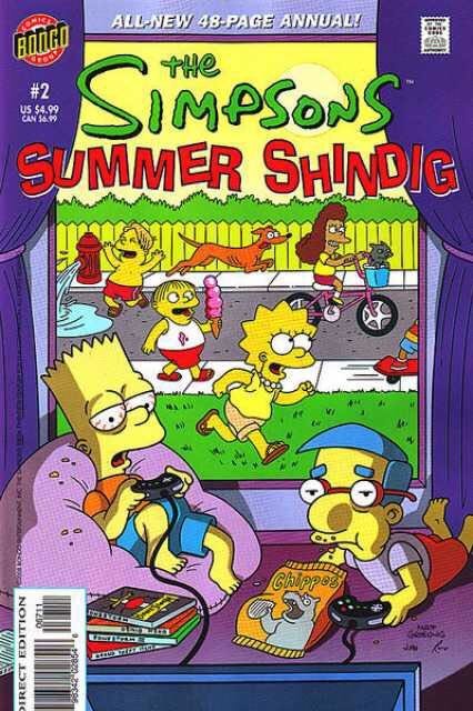 The Simpson's Summer Shindig Comic Book (2) front image (front cover)
