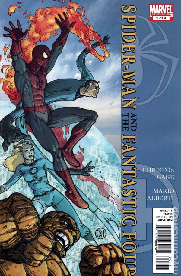 Spiderman And The Fantastic Four Comic Book (1) front image (front cover)