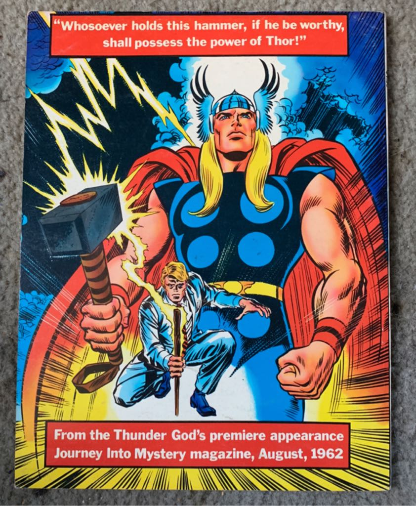 Marvel Treasury Edition-The Mighty Thor Comic Book - Marvel Comics Group (3) back image (back cover, second image)