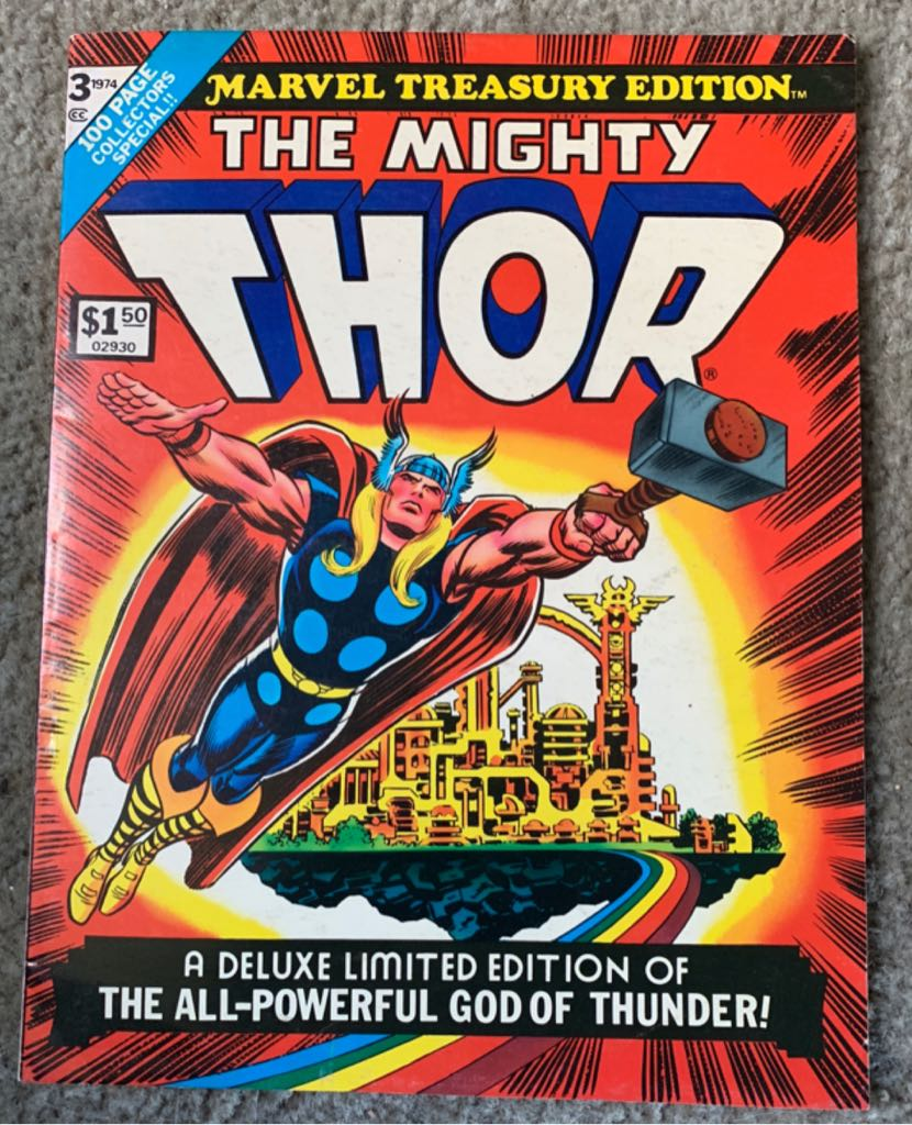 Marvel Treasury Edition-The Mighty Thor Comic Book - Marvel Comics Group (3) front image (front cover)