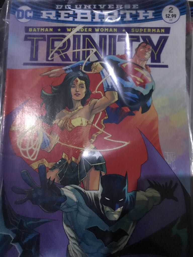 Dc Universe Rebirth: Trinity Comic Book (2) front image (front cover)
