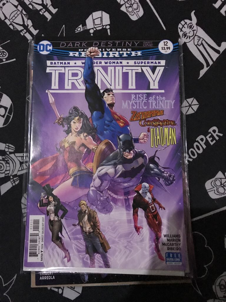 Dc Universe Rebirth: Trinity Comic Book (12) front image (front cover)