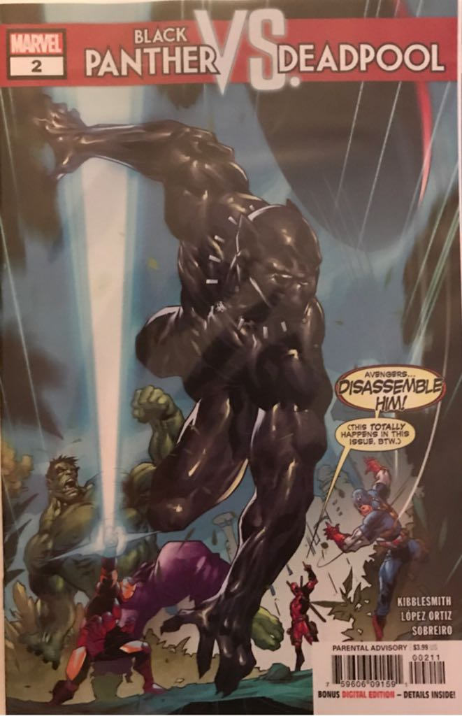 Black Panther Vs. Deadpool Comic Book - Marvel (2) front image (front cover)