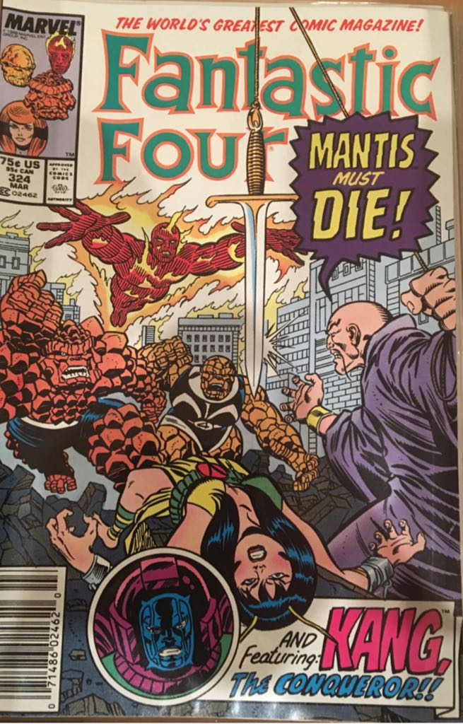 Fantastic Four 324 Comic Book (324) front image (front cover)