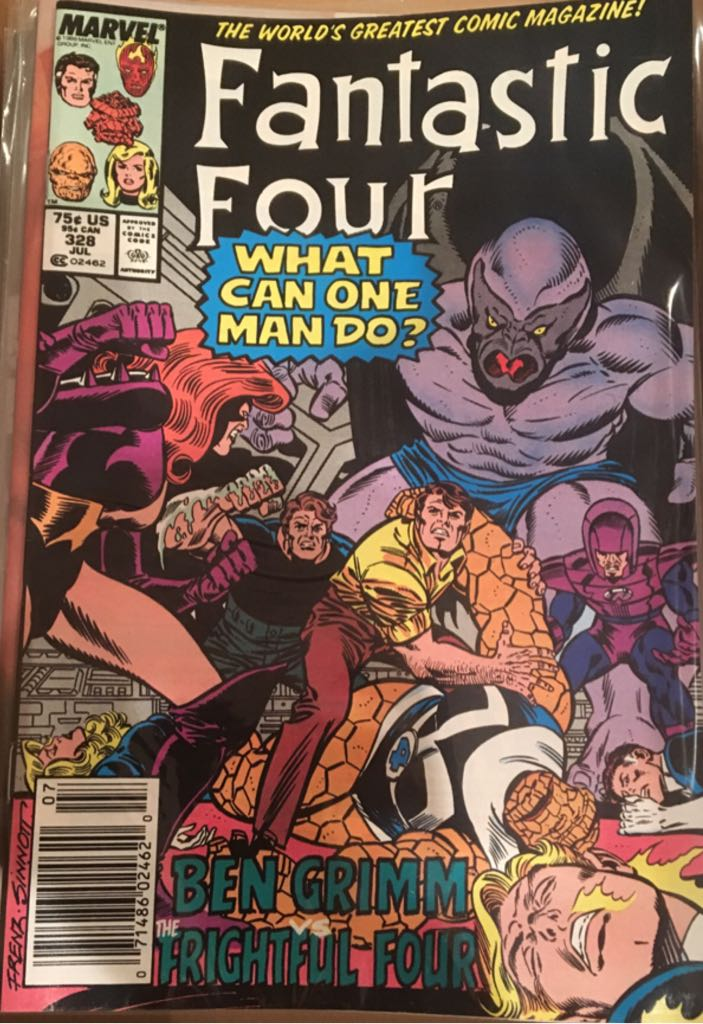 Fantastic Four 328 Comic Book (328) front image (front cover)