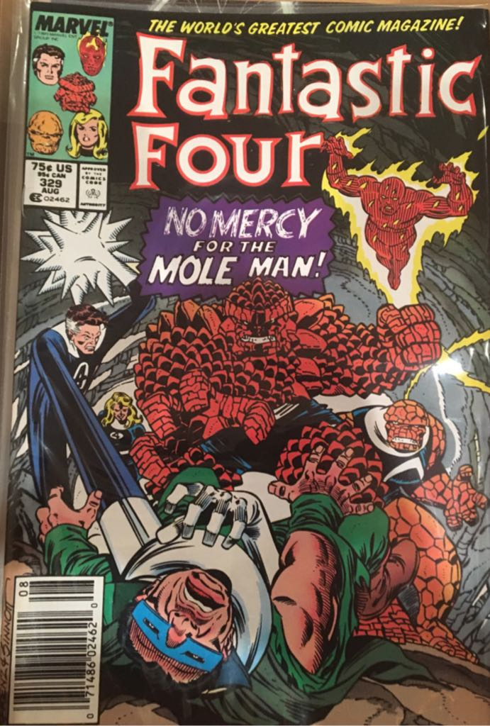 Fantastic Four 329 Comic Book (329) front image (front cover)