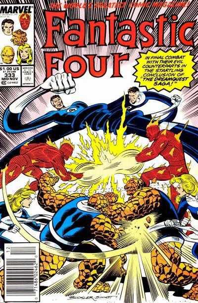 Fantastic Four 333 Comic Book (333) front image (front cover)