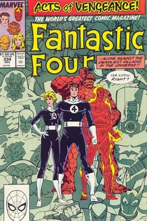 Fantastic Four 334 Comic Book (334) front image (front cover)