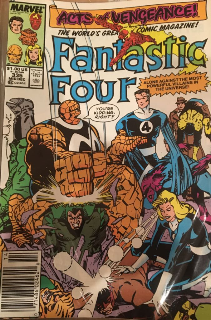 Fantastic Four 335 Comic Book (335) front image (front cover)