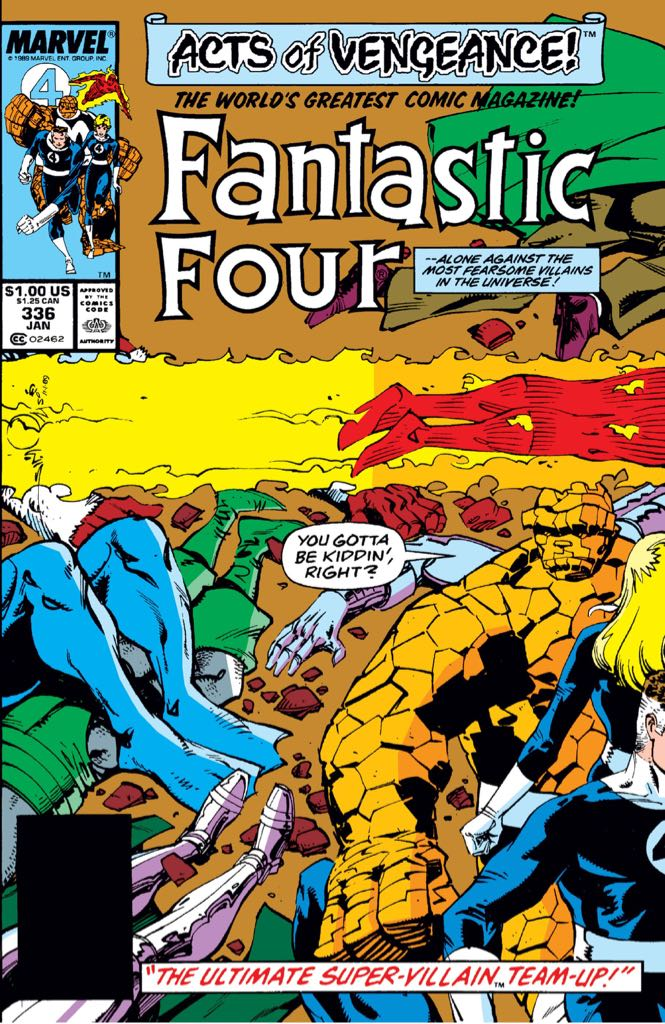Fantastic Four 336 Comic Book (336) front image (front cover)