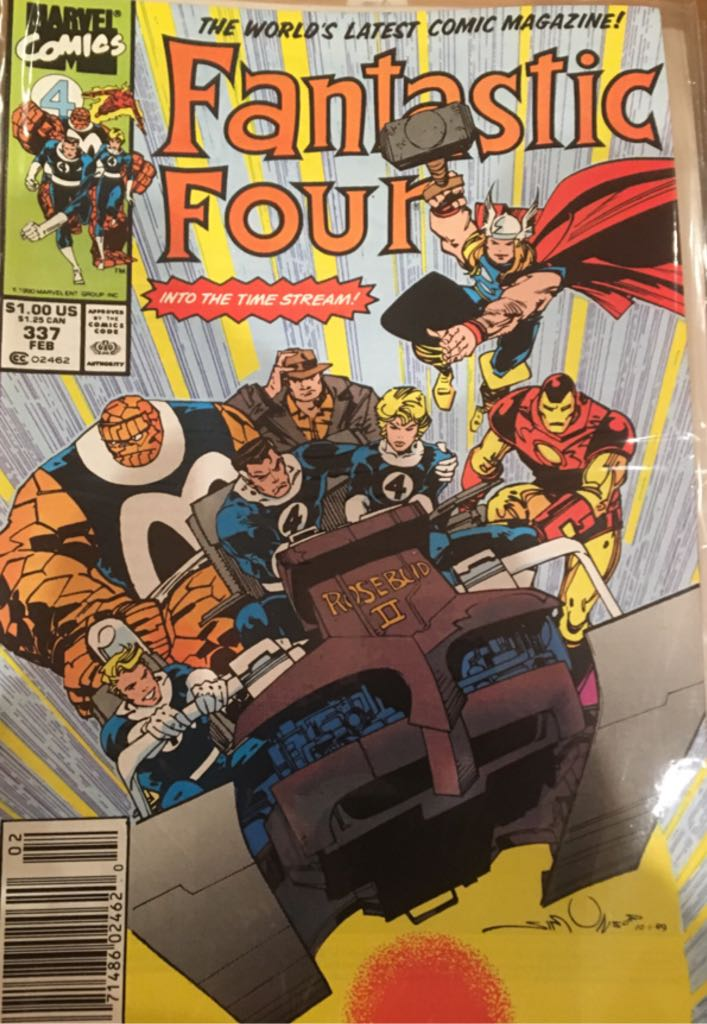 Fantastic Four 337 Comic Book (337) front image (front cover)