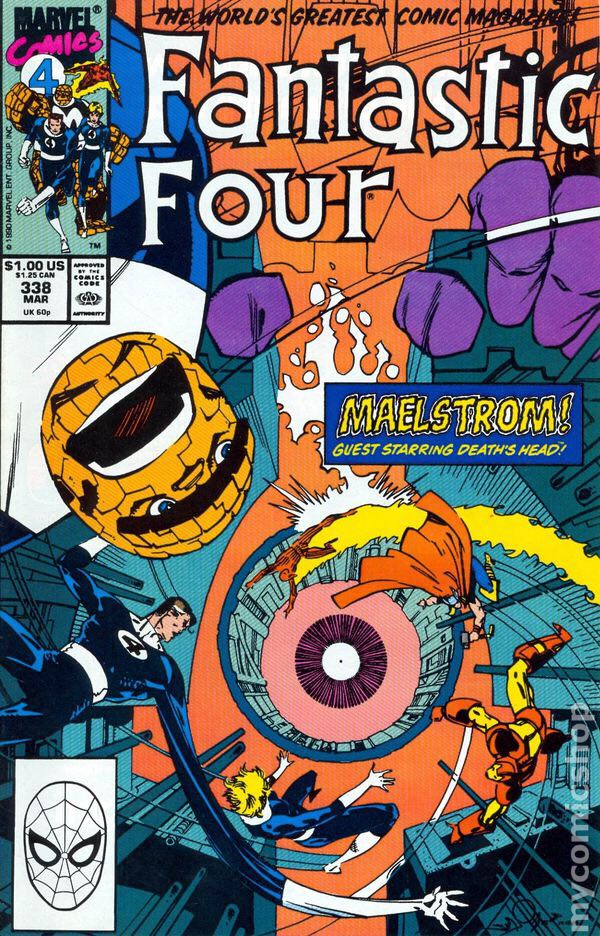 Fantastic Four 338 Comic Book (338) front image (front cover)