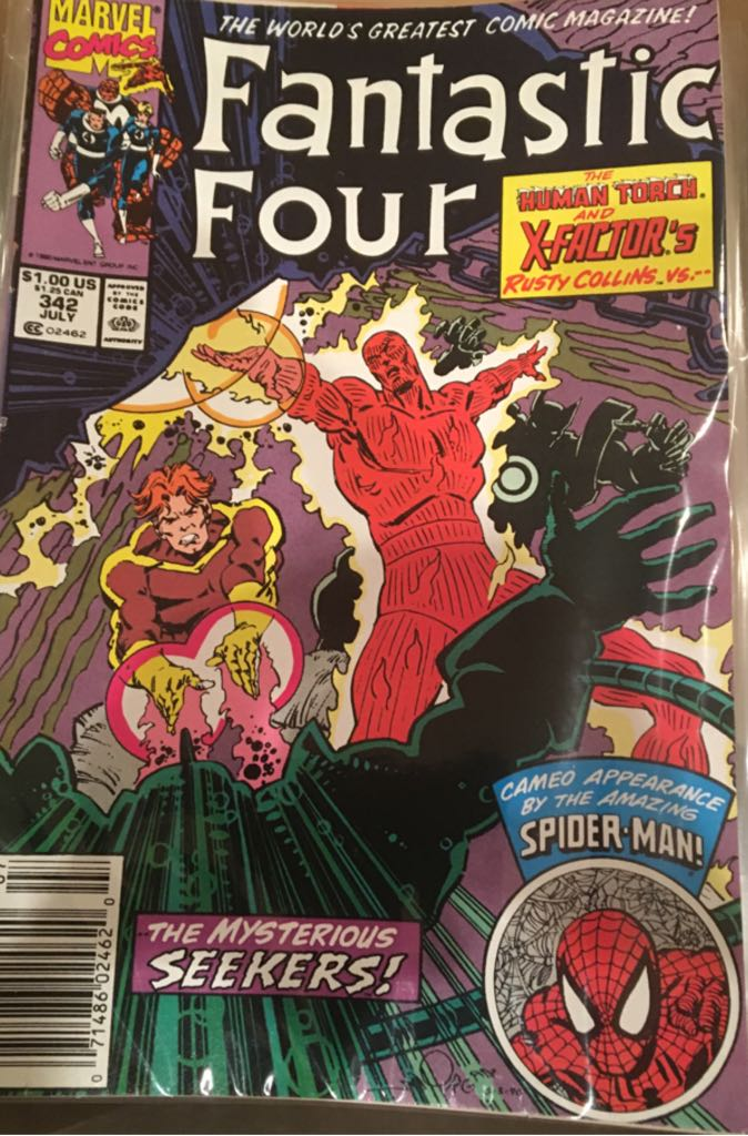 Fantastic Four 342 Comic Book (342) front image (front cover)