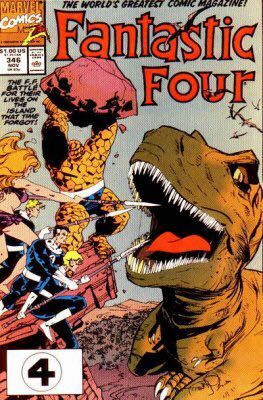 Fantastic Four 346 Comic Book (346) front image (front cover)