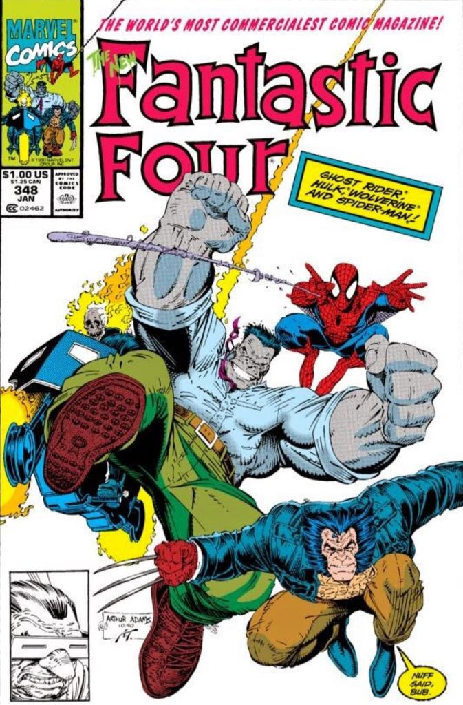 Fantastic Four 348 Comic Book (348) front image (front cover)