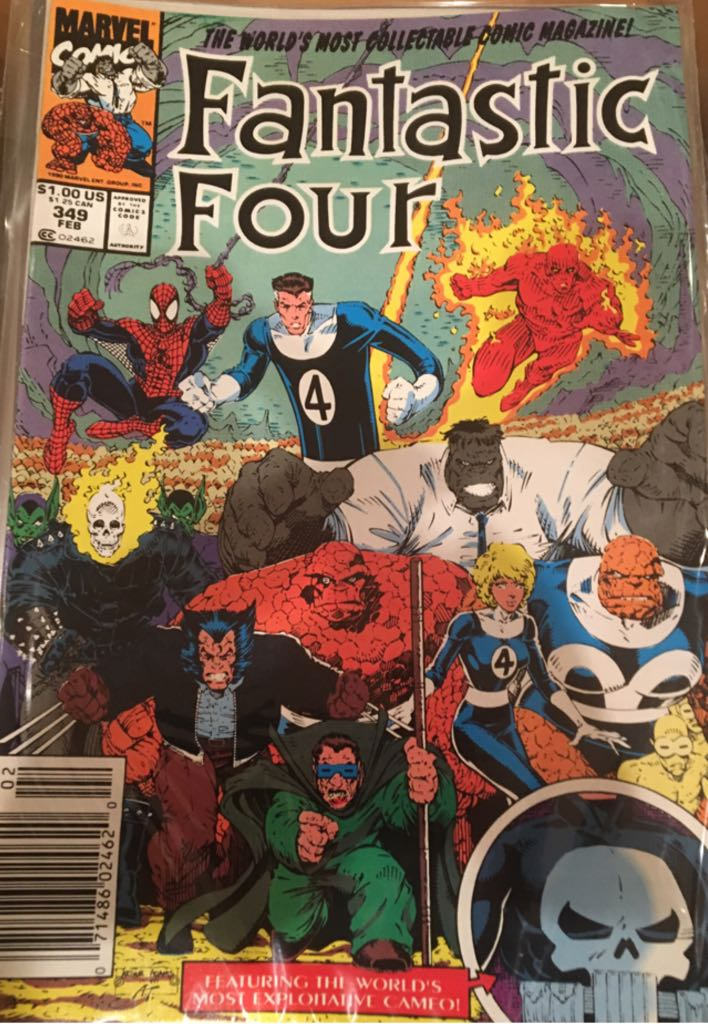 Fantastic Four 349 Comic Book (349) front image (front cover)