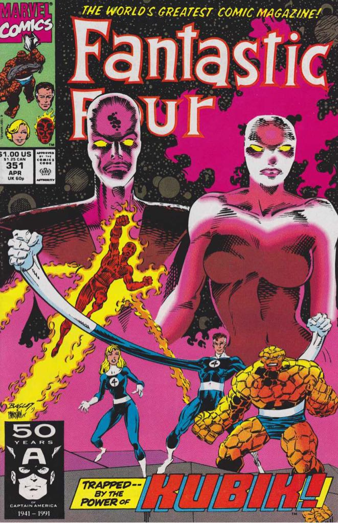 Fantastic Four 351 Comic Book (351) front image (front cover)