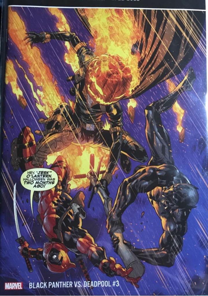 Black Panther Vs. Deadpool Comic Book - Marvel (3) front image (front cover)
