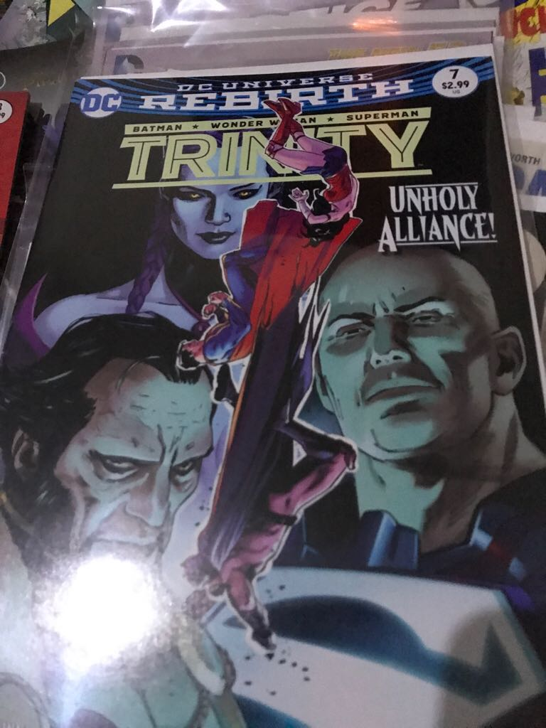 Dc Universe Rebirth: Trinity Comic Book (7) front image (front cover)