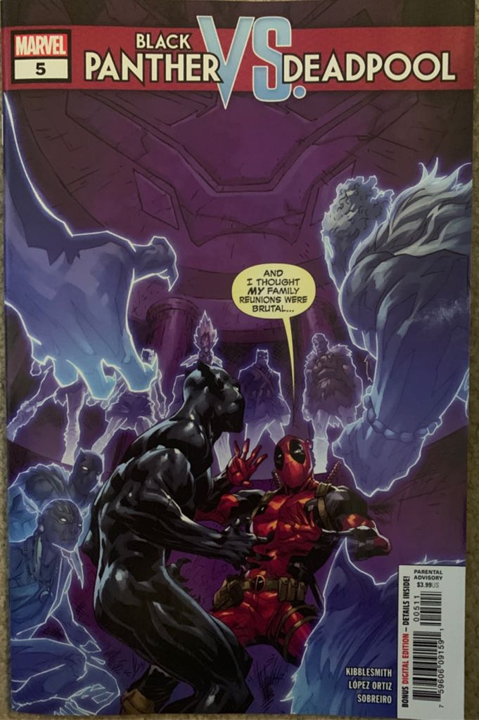 Black Panther Vs. Deadpool Comic Book - Marvel (5) front image (front cover)