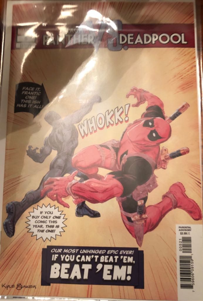 Black Panther Vs. Deadpool Comic Book (5) front image (front cover)