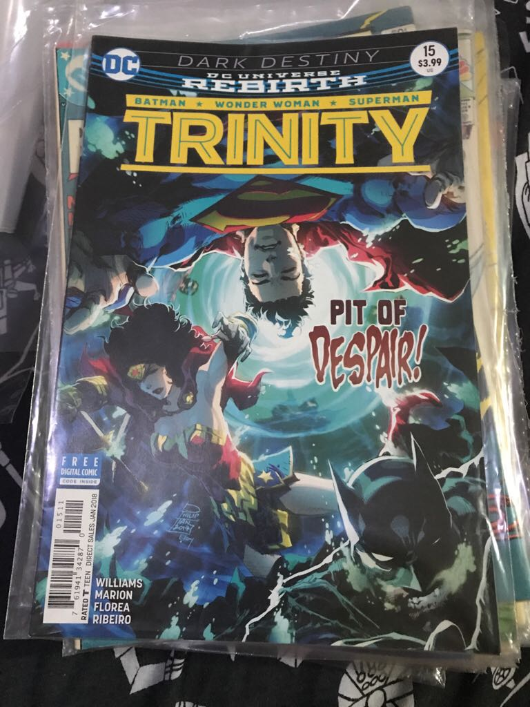 Dc Universe Rebirth: Trinity Comic Book (15) front image (front cover)