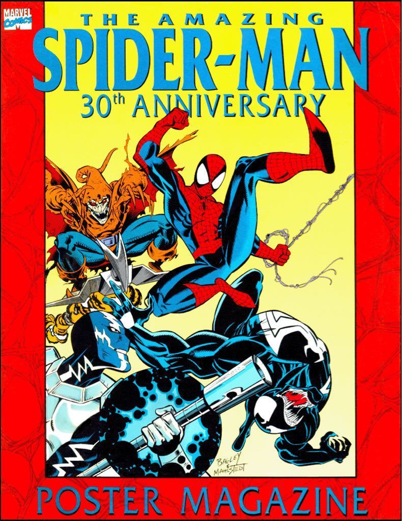 Amazing Spider-Man: 30th Anniversary Poster Magazine Comic Book front image (front cover)