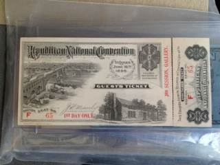 1896 REPUBLICAN NATIONAL CONVENTION Currency - USA (1896) front image (front cover)
