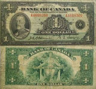 1935 $1 Currency - Canada (1935) front image (front cover)