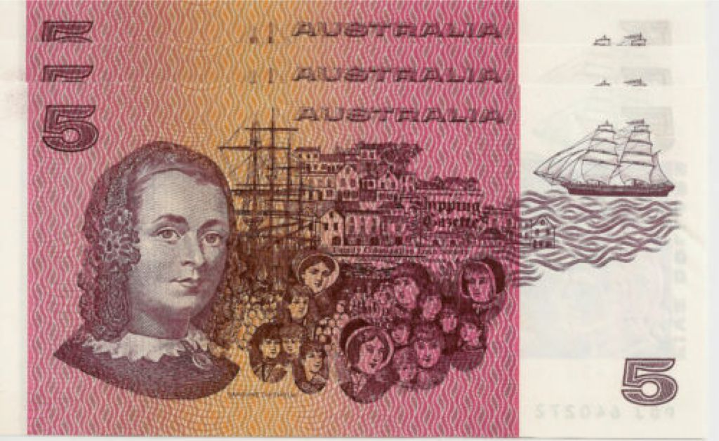 1979 $5 Currency - Australia (1979) back image (back cover, second image)