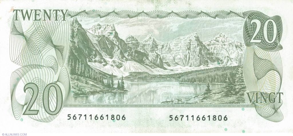 1979 $20 Currency - Canada (1979) back image (back cover, second image)