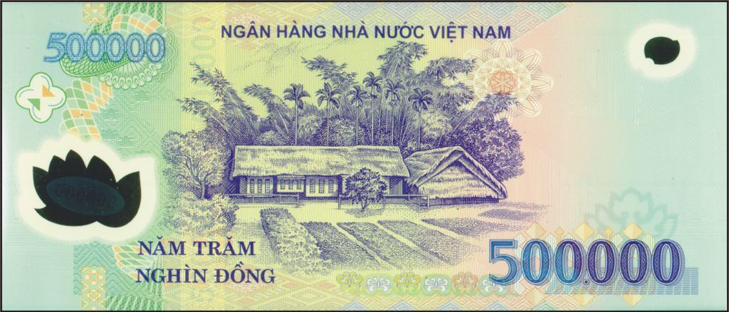 500,000 Viet Nam Currency - Vietnam (2018) back image (back cover, second image)