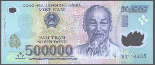 500,000 Viet Nam Currency - Vietnam (2018) front image (front cover)