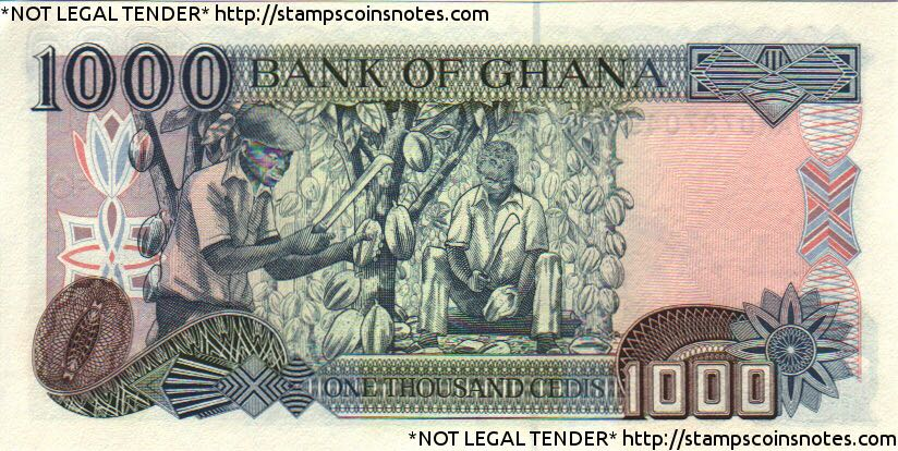 1000 Bank of Ghana Currency - Ghana (2018) back image (back cover, second image)