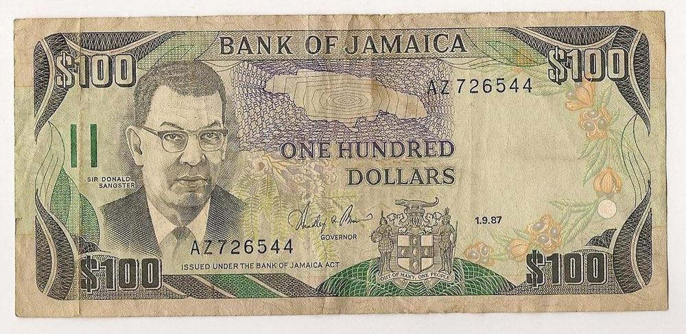 $100 Bank of Jamaica Currency - Jamaica (2018) front image (front cover)