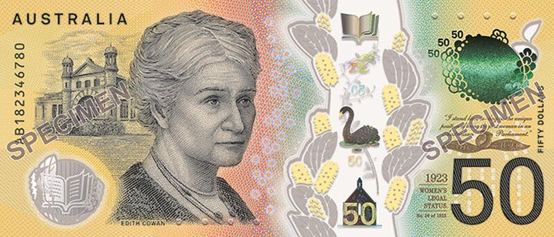 Australia 50 Dollars Currency - Australia (2018) front image (front cover)