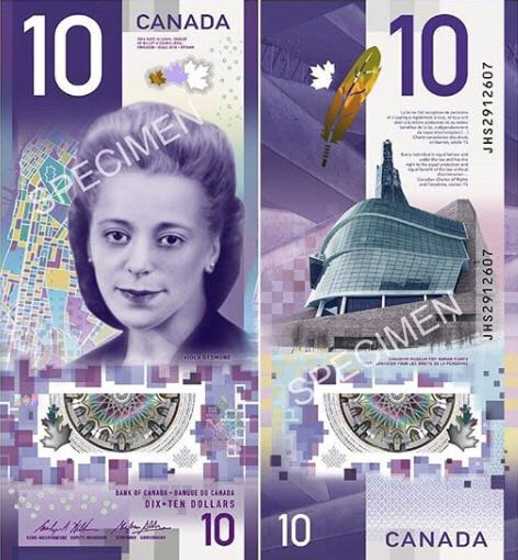 Canada 10 Dollars Currency - Canada (2018) front image (front cover)