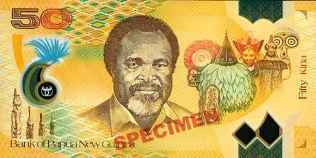 Papua New Guinea 50 Kina 2018 Currency - Papua New Guinea (2018) front image (front cover)