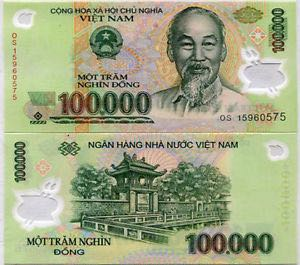 100000 Dong Currency - Vietnam back image (back cover, second image)