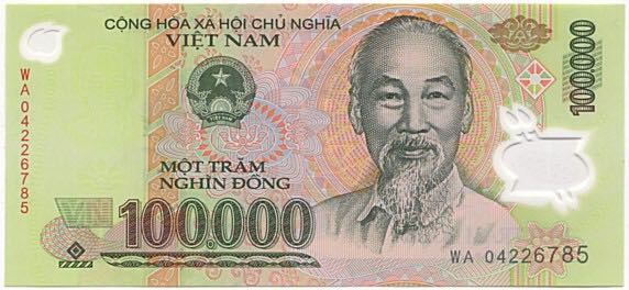 100000 Dong Currency - Vietnam front image (front cover)