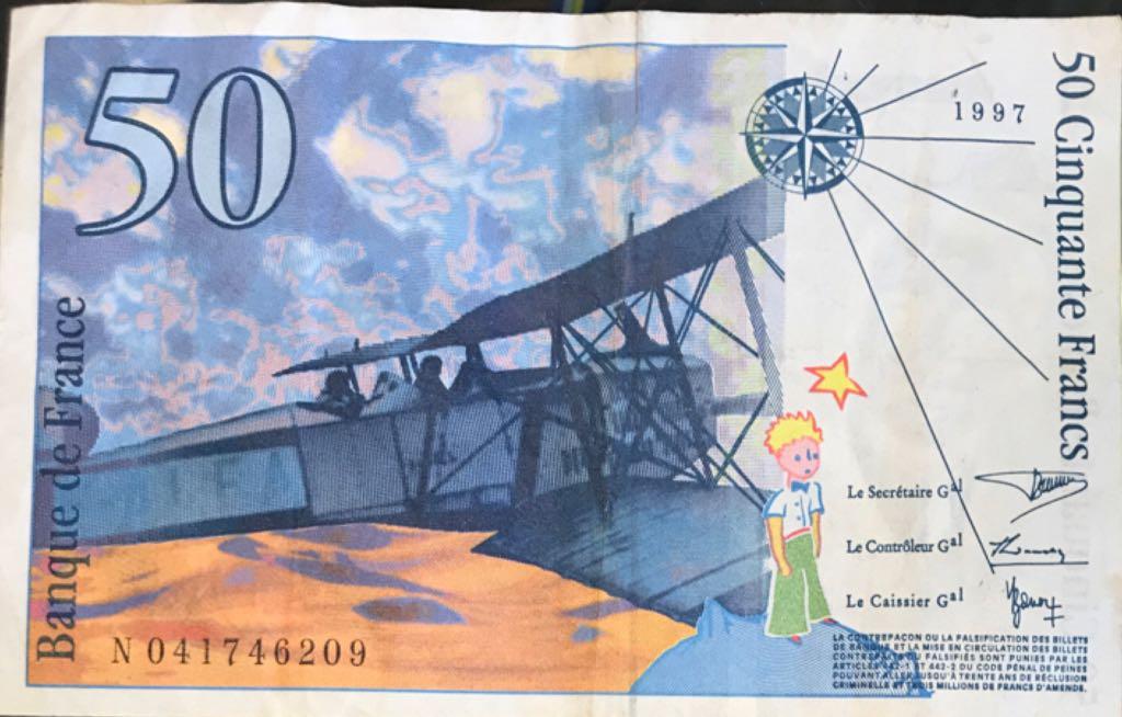 Francos $50 Currency - France (1997) back image (back cover, second image)