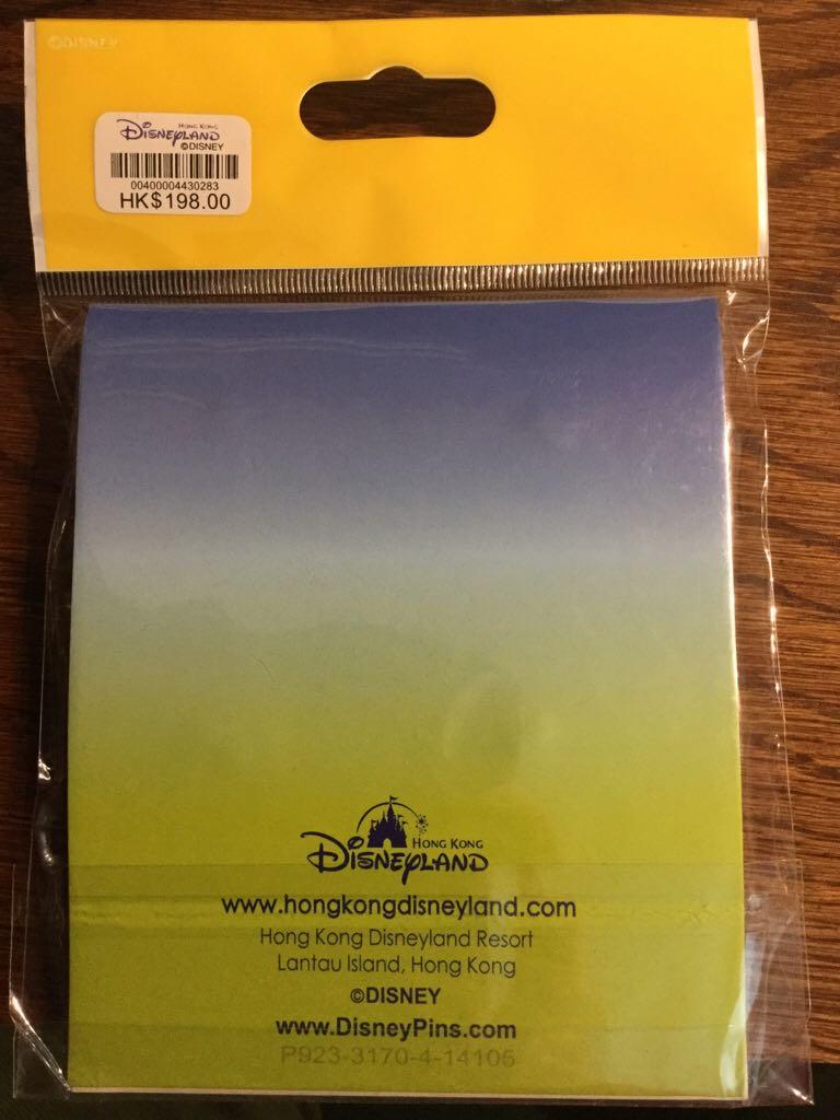 HKDL Flying UFO Booster Pack Disneypin back image (back cover, second image)