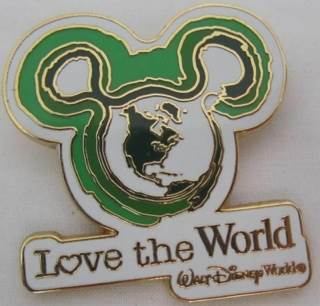 Mickey Icon Love The World Disneypin (3/31/09) front image (front cover)