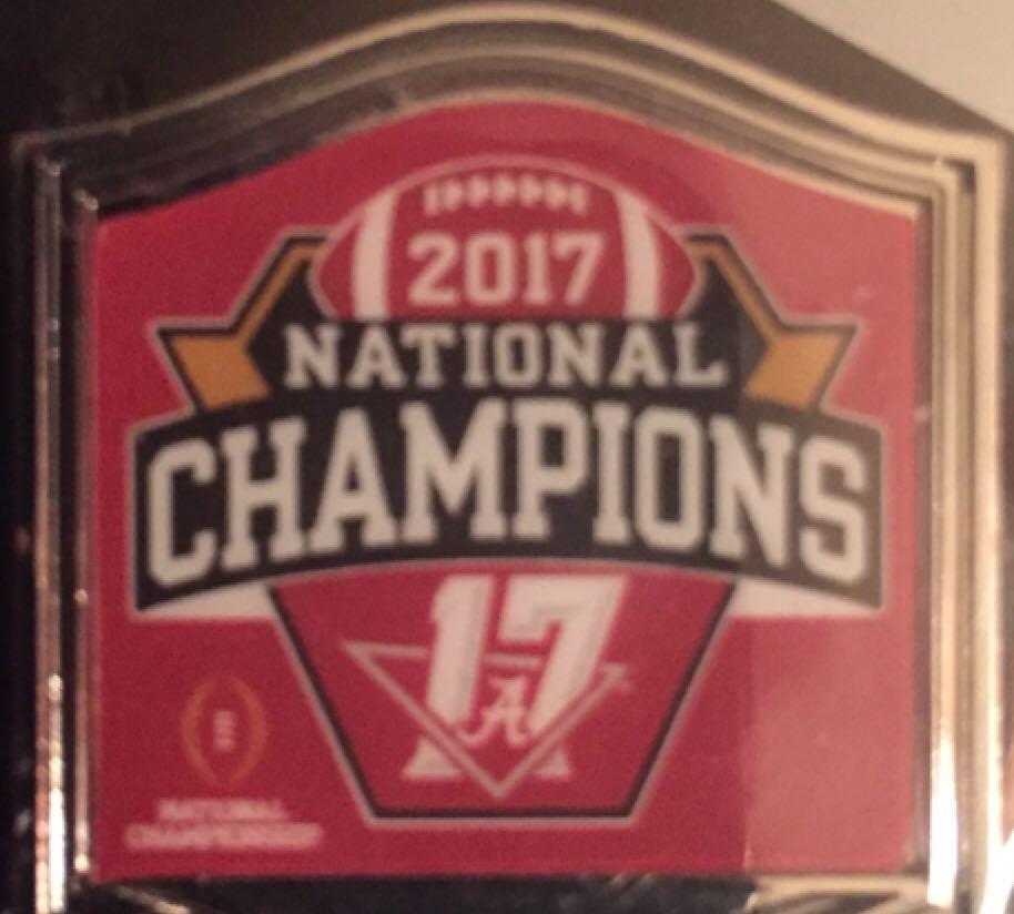 2017 Alabama National Championship Pin Disneypin (01/08/2018) front image (front cover)