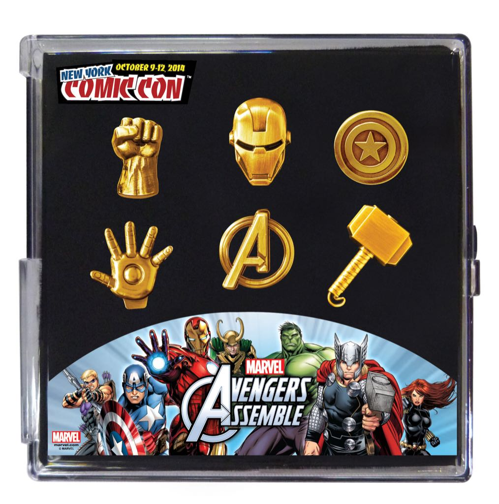 Marvel Pewter Pin 6pc Set Disneypin front image (front cover)