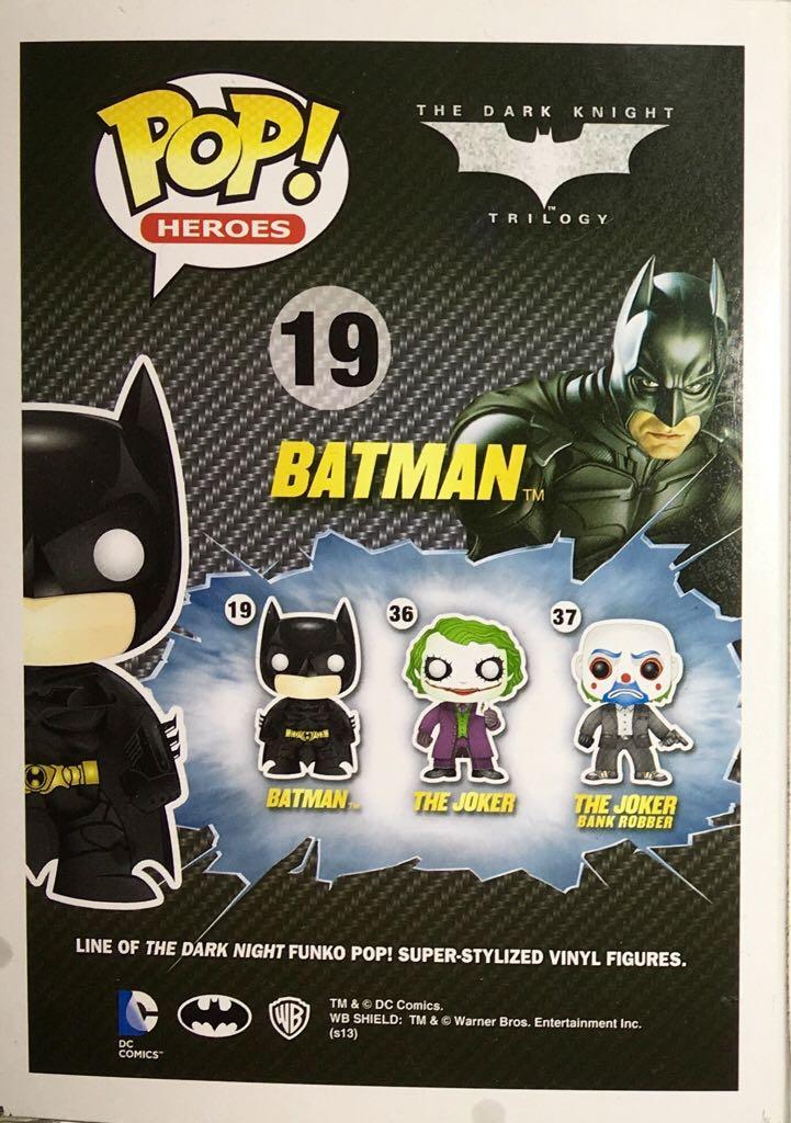 Figurine Funko POP Heroes The Dark Knight Trilogy 19 Batman