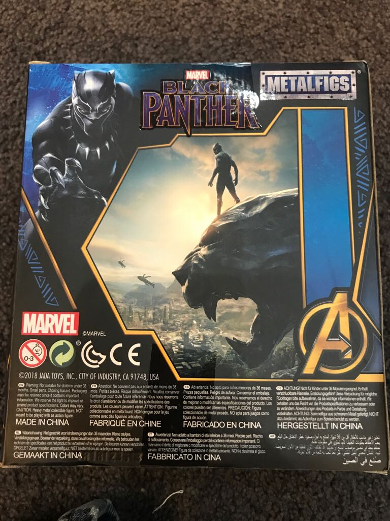 Black Panther Funko back image (back cover, second image)