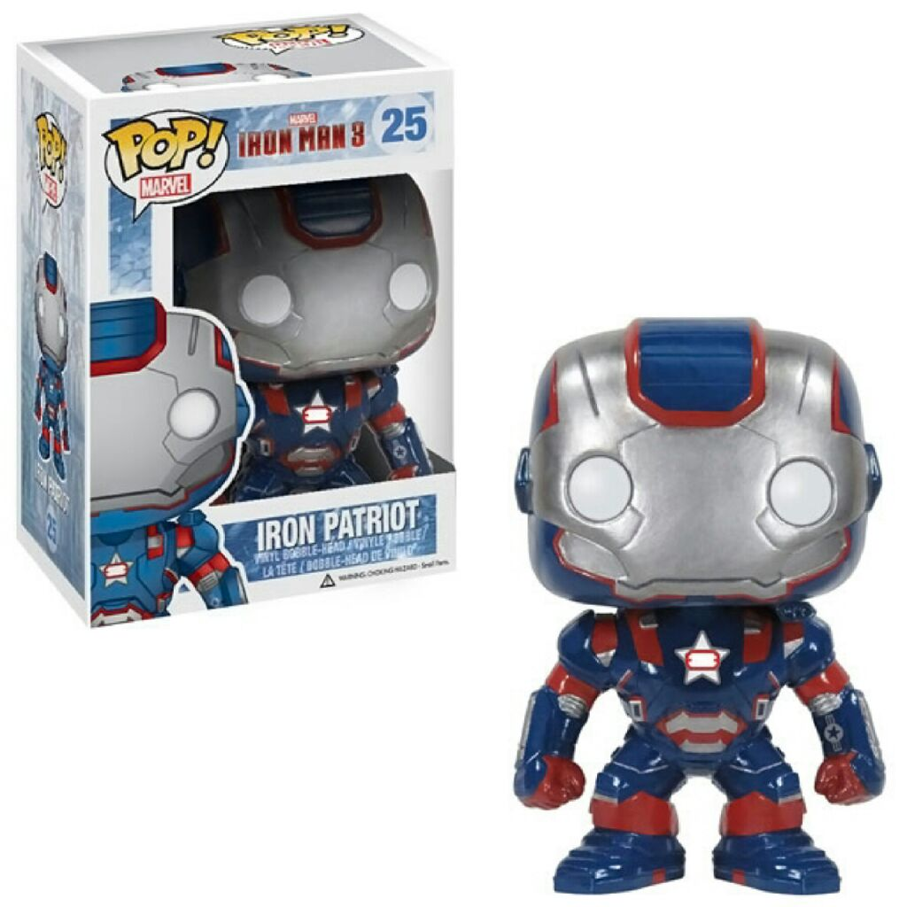 Iron Patriot Funko - POP! Marvel (25) back image (back cover, second image)